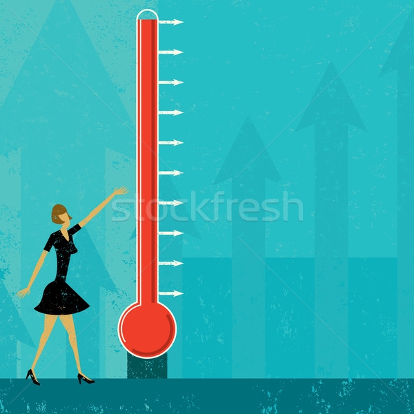 Goal Thermometer Stock photo © retrostar
