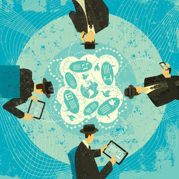 Social Media Networking Stock photo © retrostar