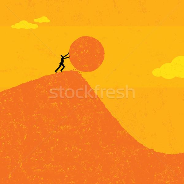 мяча бизнесмен человека отдельный успех цель Сток-фото © retrostar