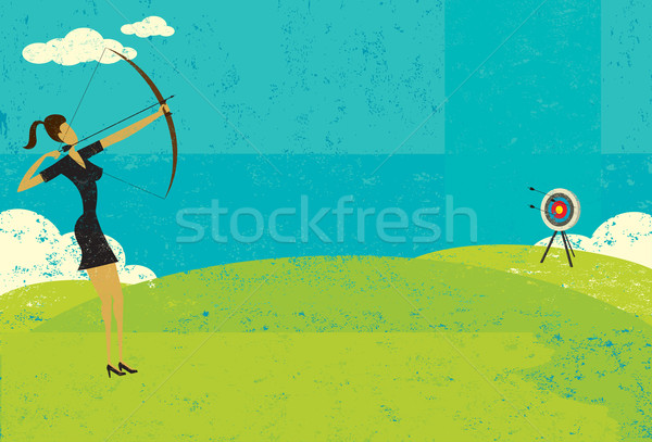 Stock photo: Trying to hit the bull's eye