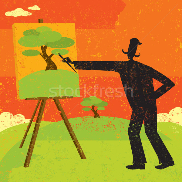 Artist Painting Stock photo © retrostar