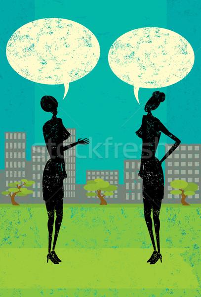 Women Talking Stock photo © retrostar