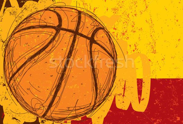 Sketchy Basketball Background Stock photo © retrostar