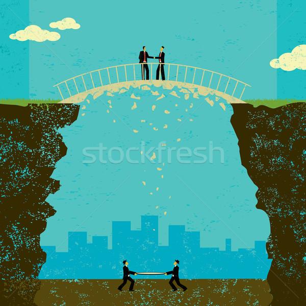Negócio acordo dois empresários tratar Foto stock © retrostar