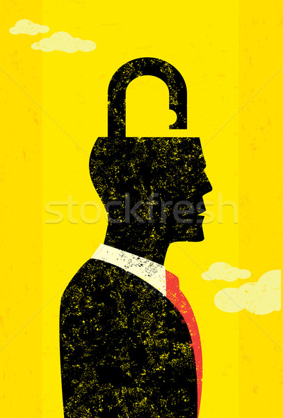 Unlocking the mind Stock photo © retrostar