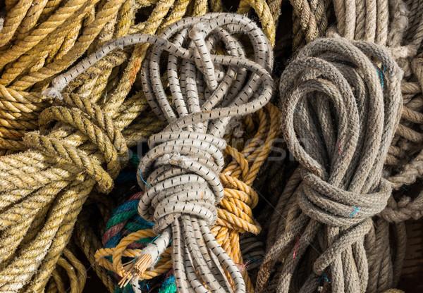 Cordes ensemble bien rangé up Photo stock © rghenry
