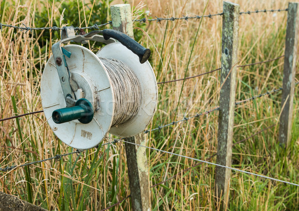 Electric Fence Reel Stock photo © rghenry