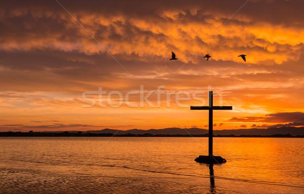 Three Birds Cross Stock photo © rghenry