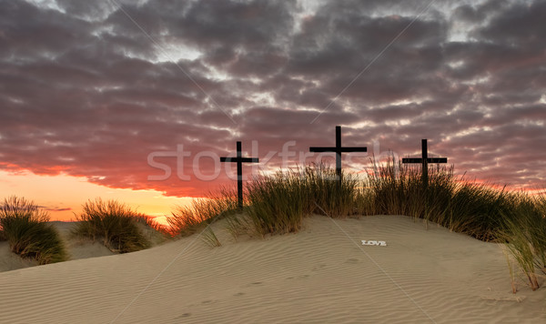 Love Foot Prints Crosses Stock photo © rghenry