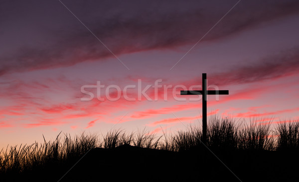 Red Dawn Sky Cross Stock photo © rghenry
