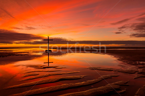 The Reflection Cross Stock photo © rghenry