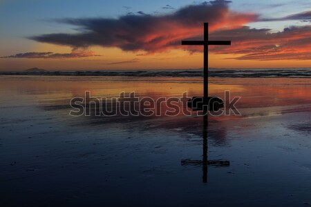 Dawn Beach Cross Stock photo © rghenry
