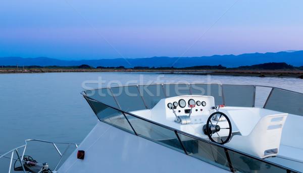 White Boat Bridge Stock photo © rghenry