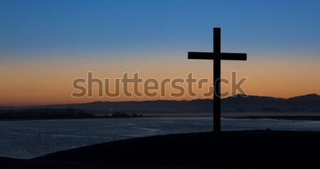 Dawn Dark Cross Stock photo © rghenry