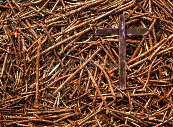 Cross and Used Nails Stock photo © rghenry