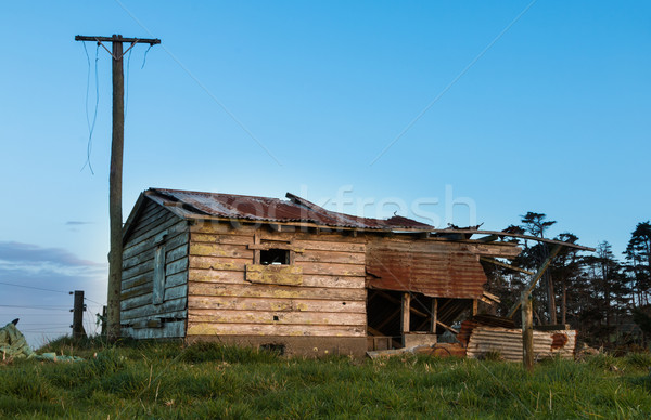 Stock photo: Aged Farm Shed
