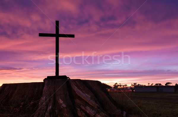 Black Stump Cross Stock photo © rghenry