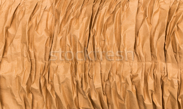 Wrinkled Brown Paper Stock photo © rghenry