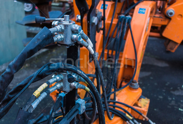Hydraulic Hose Control Tapes Stock photo © rghenry