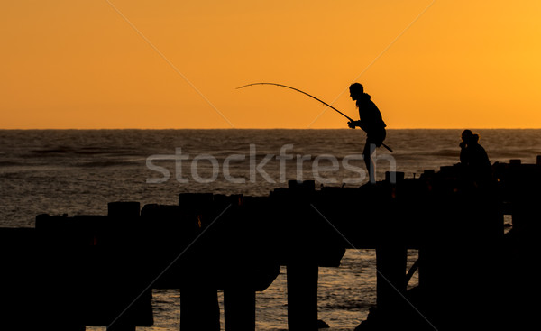 Fishing Sunset Stock photo © rghenry