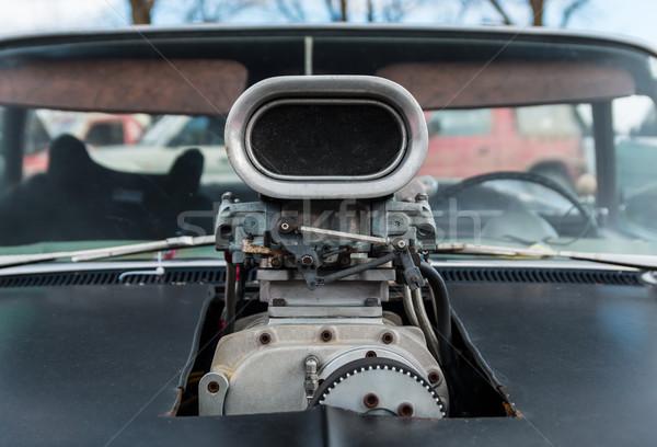 Zwarte auto auto macht lucht Stockfoto © rghenry