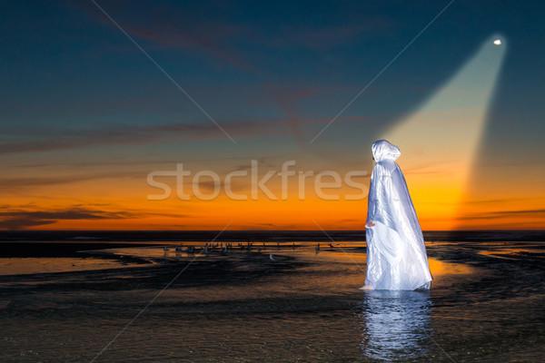 Luz Jesús Cristo caminando corriente Foto stock © rghenry