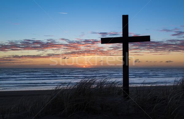Beach Cross Stock photo © rghenry