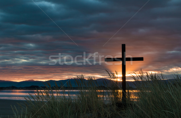 Dawn Sun Rays Cross Stock photo © rghenry