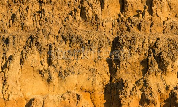 Or couleur saleté falaise regarder Photo stock © rghenry