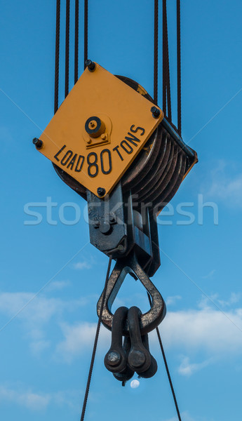 80 Tons Crane Pulley Stock photo © rghenry