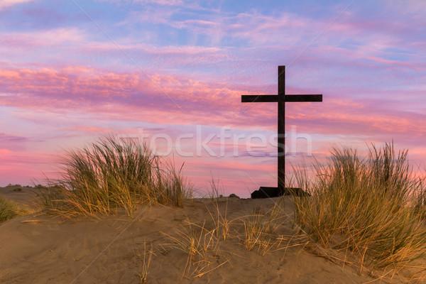 дюна черный крест песчаная дюна холме красочный Сток-фото © rghenry