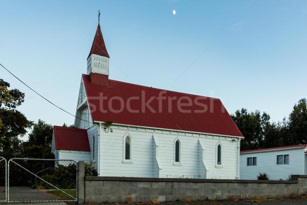 木製 教会 ニュージーランド 小 町 ストックフォト © rghenry