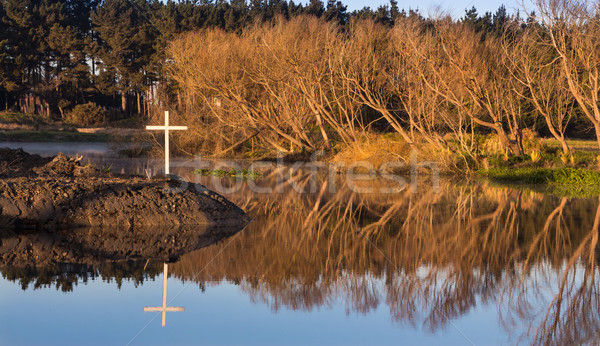 White Cross of Winter Stock photo © rghenry