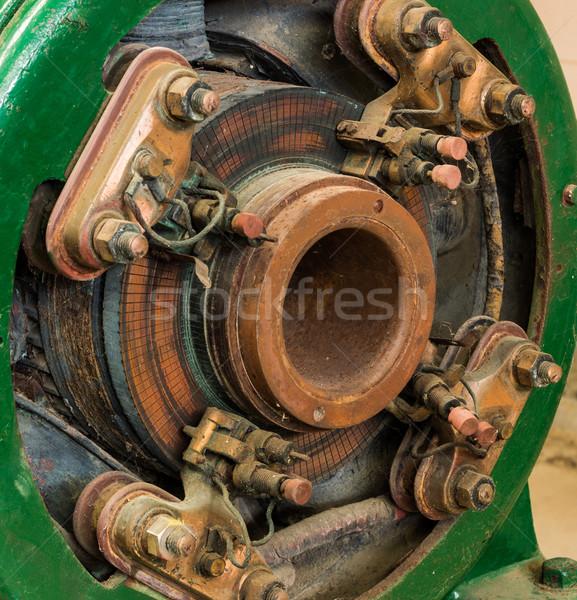 Elektromosság generátor nyitva kilátás ecset Stock fotó © rghenry