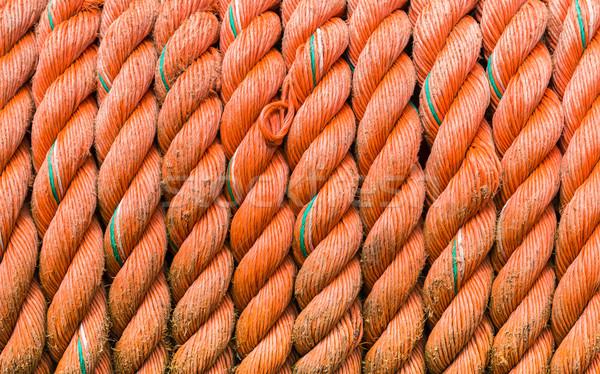 оранжевый веревку используемый лодках шаблон Сток-фото © rghenry