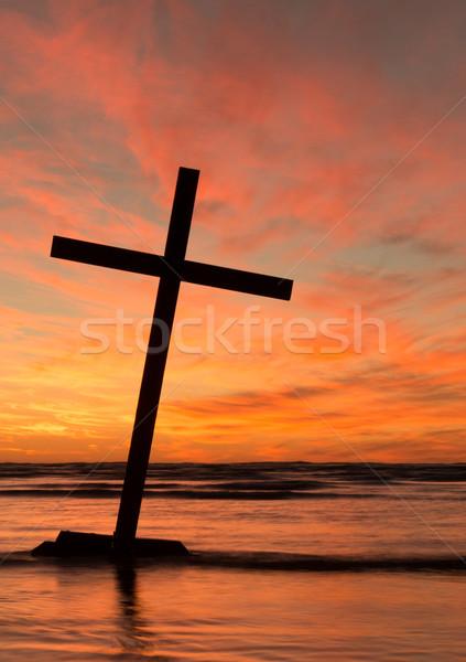 Lean Over Black Cross Stock photo © rghenry