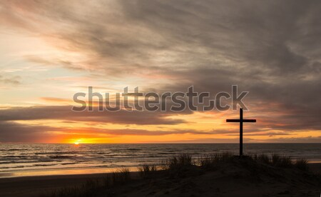 Stock photo: Calvary Beach Sunset