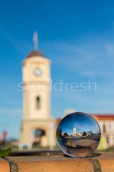 Feilding Town Clock Glass Ball Stock photo © rghenry