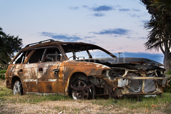 Burnt Out Car Stock photo © rghenry
