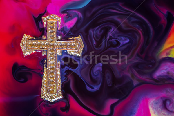 Golden Cross Colorful Stock photo © rghenry