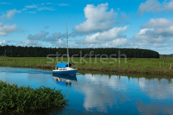 Blue Yacht Stock photo © rghenry