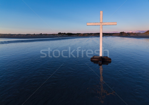 White Cross On Water Stock photo © rghenry