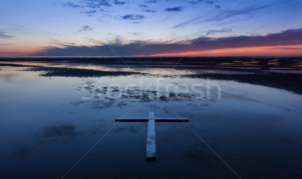 Low Tide Cross  Stock photo © rghenry