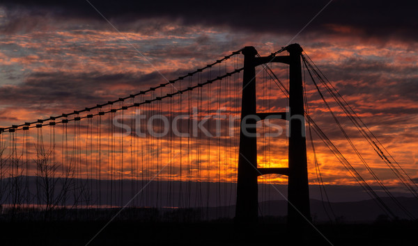 Opiki Bridge Sunrise Stock photo © rghenry