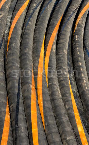 гидравлический черный оранжевый промышленности промышленных трубы Сток-фото © rghenry