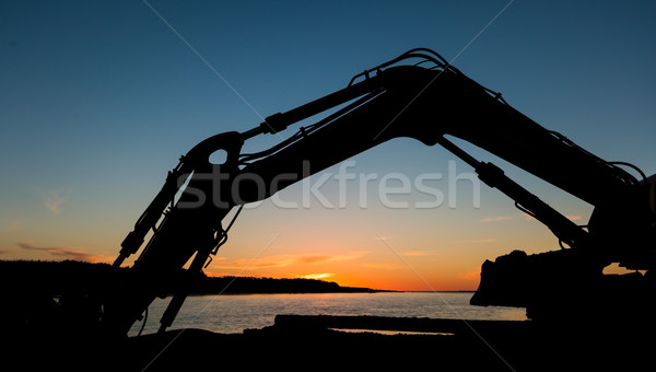 Digger Arm Sunset Stock photo © rghenry
