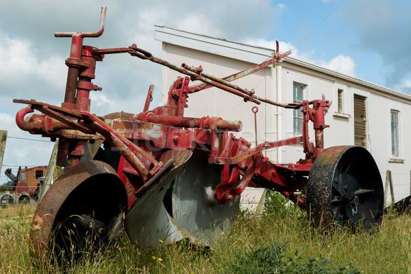 öreg piros eke egy használt gőz Stock fotó © rghenry