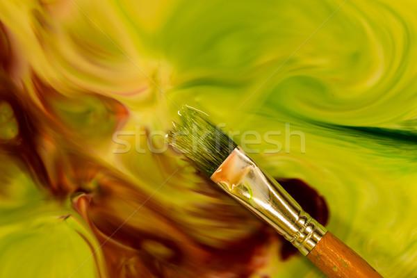 Green Paint Brush Stock photo © rghenry