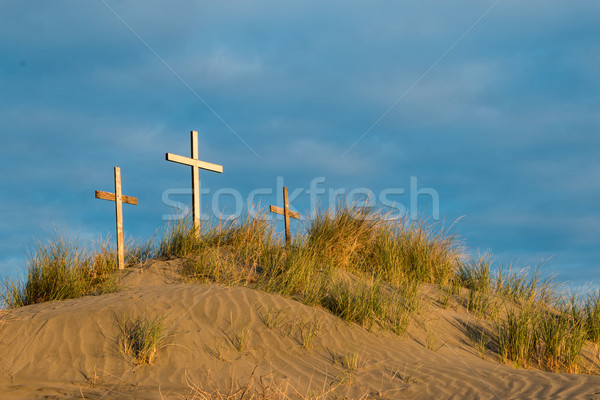 Tres cruz duna centro uno blanco Foto stock © rghenry