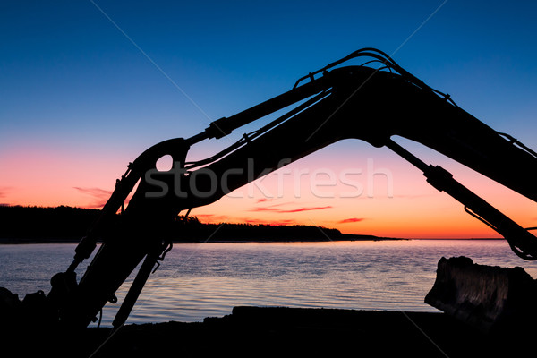 Digger Sunset Arm Stock photo © rghenry